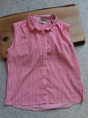 Maison Scotch Blusa senza maniche bianco-rosso chiaro