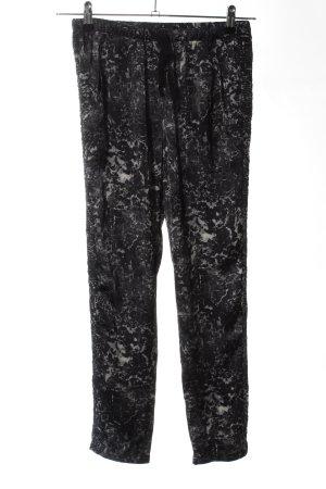 Maison Scotch Pantalone palazzo nero-grigio chiaro stile casual