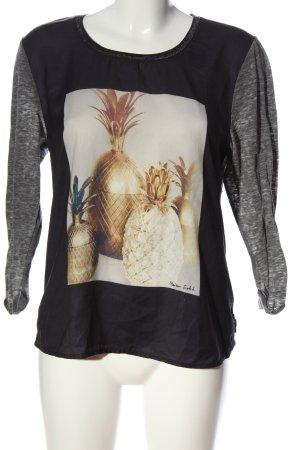 Maison Scotch Print-Shirt meliert Casual-Look