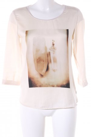 Maison Scotch Print-Shirt creme Motivdruck Casual-Look
