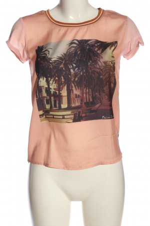 Maison Scotch Print-Shirt pink-braun Motivdruck Casual-Look