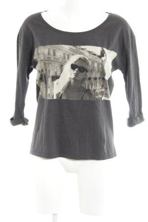Maison Scotch Print-Shirt anthrazit Motivdruck Casual-Look