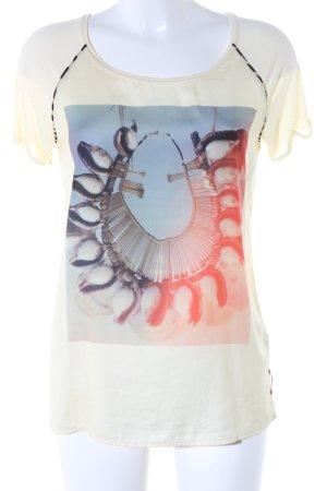 Maison Scotch Print-Shirt blassgelb Motivdruck Casual-Look