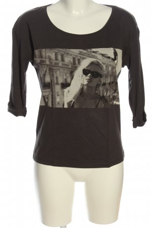 Maison Scotch Print-Shirt schwarz-hellgrau Casual-Look