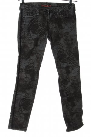 Maison Scotch Drainpipe Trousers light grey-black abstract pattern casual look