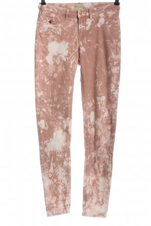 Maison Scotch Röhrenjeans nude abstraktes Muster Casual-Look