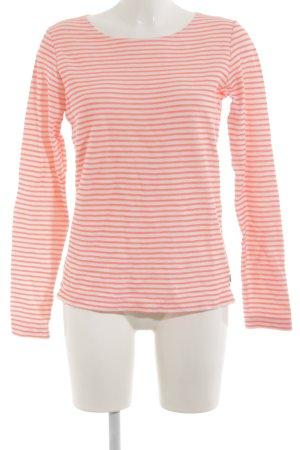 Maison Scotch Rundhalspullover pink-weiß Streifenmuster Casual-Look