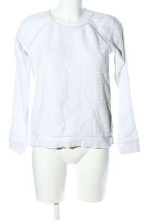 Maison Scotch Maglione girocollo bianco stile casual