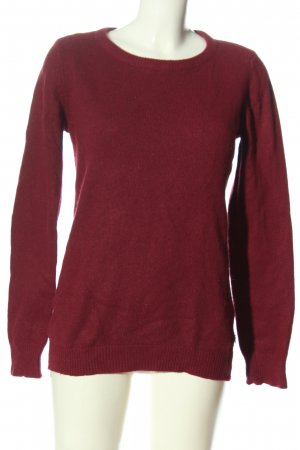 Maison Scotch Rundhalspullover rot Casual-Look