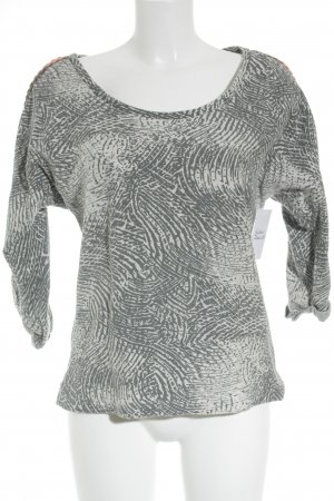 Maison Scotch Rundhalspullover abstraktes Muster Casual-Look