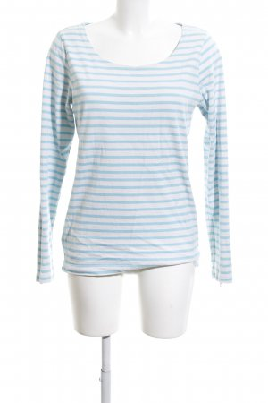 Maison Scotch Rundhalspullover blau-weiß Streifenmuster Casual-Look