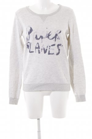 Maison Scotch Rundhalspullover grau Casual-Look