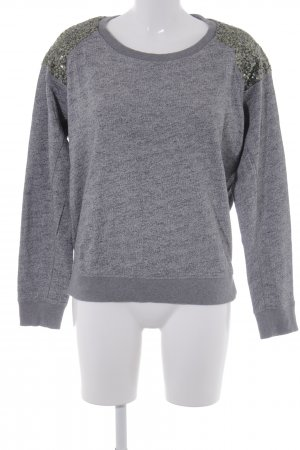 Maison Scotch Rundhalspullover grau meliert Business-Look