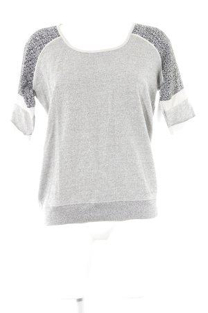 Maison Scotch Kraagloze sweater gestippeld atletische stijl