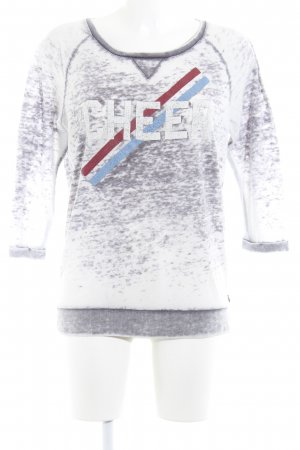 Maison Scotch Rundhalspullover Motivdruck Casual-Look