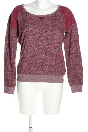 Maison Scotch Rundhalspullover pink meliert Casual-Look