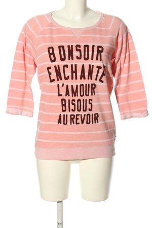 Maison Scotch Rundhalspullover Schriftzug gedruckt Casual-Look
