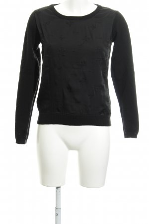 Maison Scotch Rundhalspullover schwarz Casual-Look
