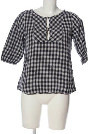Maison Scotch Schlupf-Bluse weiß-schwarz Allover-Druck Casual-Look