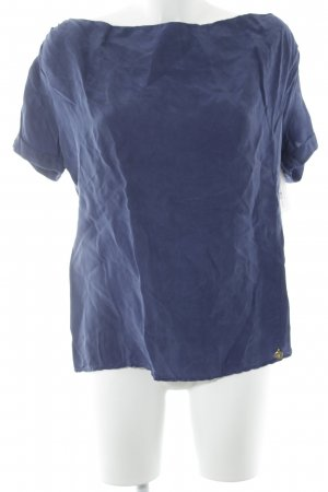 Maison Scotch Schlupf-Bluse blau Casual-Look