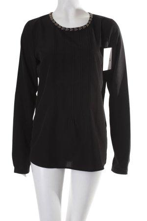 Maison Scotch Schlupf-Bluse schwarz klassischer Stil