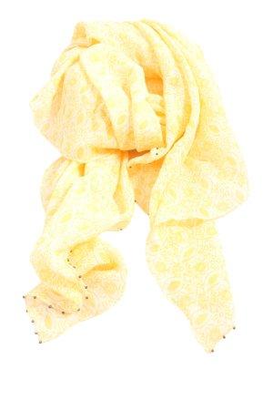 Maison Scotch Scialle giallo pallido-bianco motivo grafico stile casual