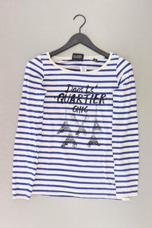 Maison Scotch Shirt Größe 38 gestreift blau aus Baumwolle