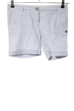 Maison Scotch Shorts hellgrau-weiß Streifenmuster Casual-Look