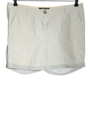 Maison Scotch Shorts weiß-blau Streifenmuster Casual-Look
