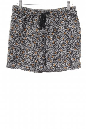 Maison Scotch Shorts schwarz florales Muster Casual-Look
