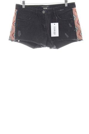 Maison Scotch Shorts taupe Aztekenmuster Used-Optik
