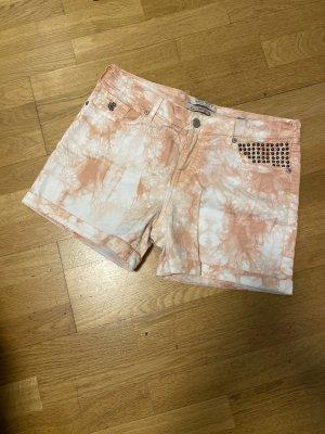 Maison Scotch Shorts W 29 Weiß Lachs Batik