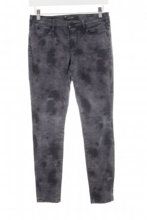 Maison Scotch Skinny Jeans anthrazit abstraktes Muster Casual-Look