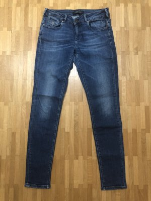 Maison Scotch Skinny Jeans blau Mid-Rise La Parisienne W27/L32