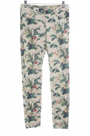Maison Scotch Skinny Jeans Blumenmuster Casual-Look