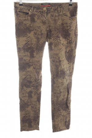 Maison Scotch Skinny Jeans braun-wollweiß abstraktes Muster Casual-Look