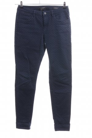 Maison Scotch Skinny Jeans blau-schwarz Allover-Druck Business-Look