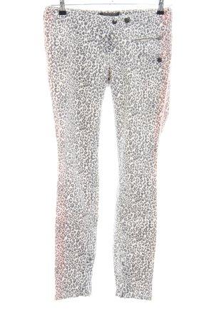 Maison Scotch Skinny Jeans schwarz-weiß Leomuster Casual-Look