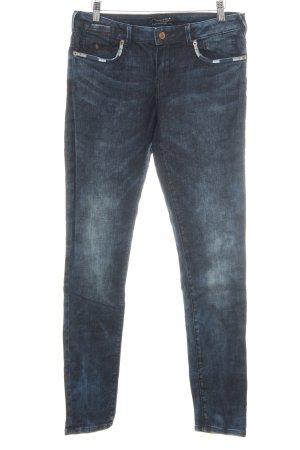 Maison Scotch Skinny Jeans dunkelblau Used-Optik