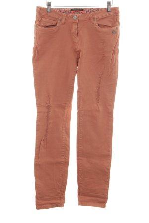 Maison Scotch Skinny Jeans lachs Used-Optik