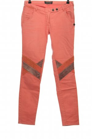 Maison Scotch Slim Jeans pink Streifenmuster Casual-Look