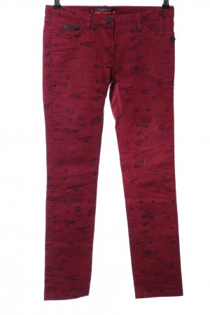 Maison Scotch Slim Jeans rot Allover-Druck Casual-Look