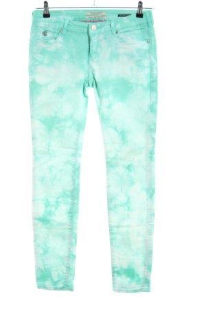 Maison Scotch Slim Jeans türkis Farbverlauf Casual-Look
