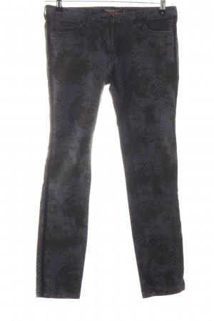Maison Scotch Slim Jeans schwarz abstraktes Muster Casual-Look