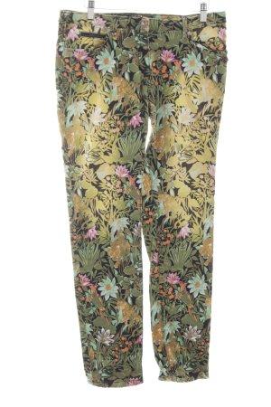 Maison Scotch Slim Jeans florales Muster extravaganter Stil