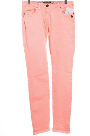 Maison Scotch Slim Jeans neonpink-schwarz Punk-Look