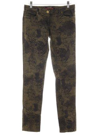 Maison Scotch Slim Jeans olivgrün-dunkelgrün abstraktes Muster
