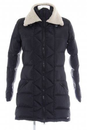 Maison Scotch Quilted Coat black-cream quilting pattern casual look