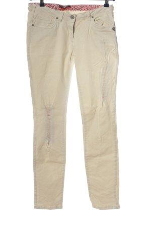 Maison Scotch Jeansy z prostymi nogawkami w kolorze białej wełny