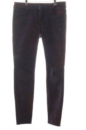 Maison Scotch Jeansy z prostymi nogawkami brązowy Abstrakcyjny wzór